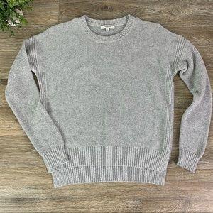 Madewell   Texturework Knit Sweater Light Gray XS